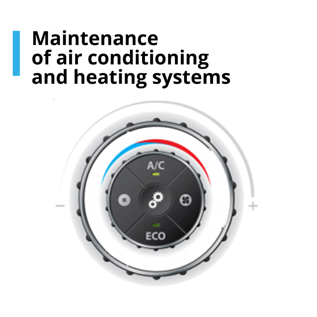 Maintenance of air conditioning and heating systems