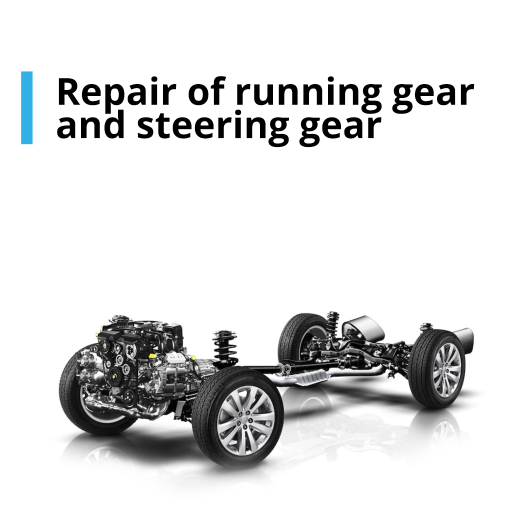 Repair of running gear and steering gear