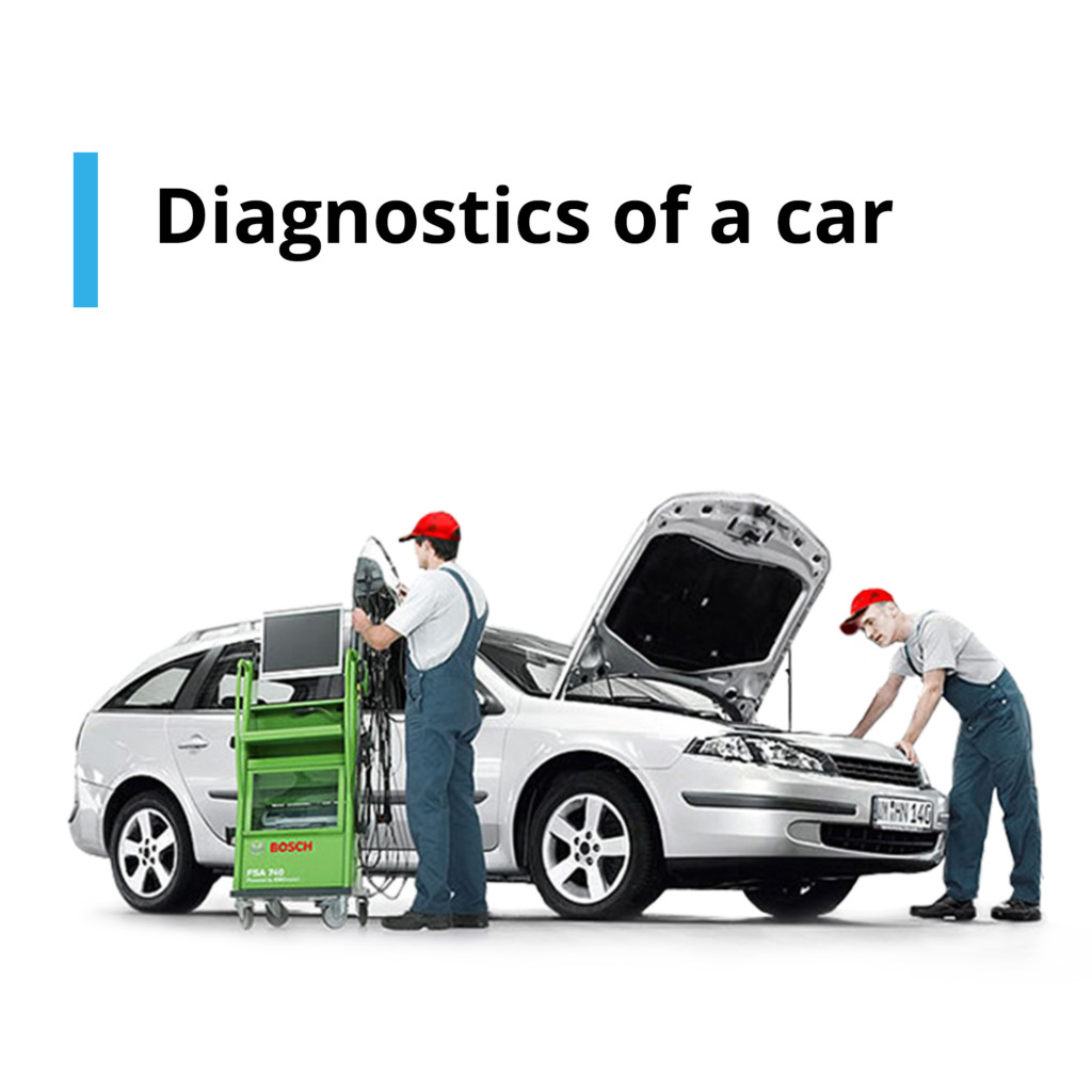 Diagnostics of a car